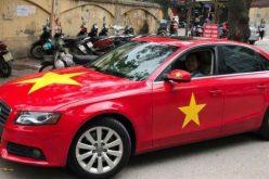 Người Việt đua nhau trang trí ô tô cổ vũ đội bóng U23