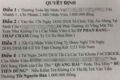 Thưởng mỗi nhân viên 3 triệu đồng vì U.23 Việt Nam vào chung kết