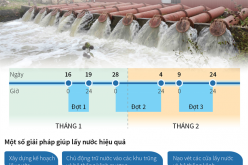 Sẽ có 18 ngày cấp nước đổ ải vụ Đông Xuân 2017-2018