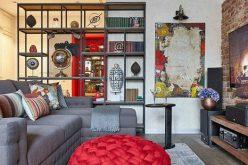 Độc đáo căn hộ 69m2 với bức tường gạch thô, đầy màu sắc ấm áp