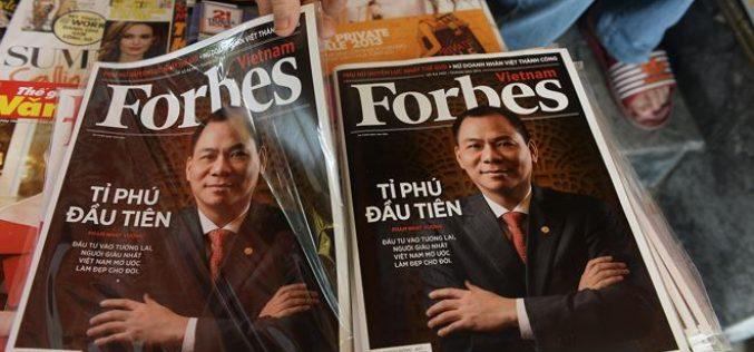 Soi tài sản 5 tỷ phú USD Việt Nam được Forbes và Bloomberg công nhận