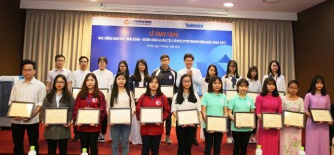 LienVietPostBank trao 165 suất học bổng cho sinh viên năm học 2016 – 2017