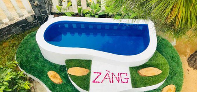 Ông bố xây bể bơi mini cho con gái tốn một triệu đồng