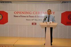 Học viện Tài chính: Khai giảng lớp Thạc sỹ tài chính và đầu tư khóa 8