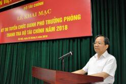 Thanh tra Bộ Tài chính thi tuyển chức danh phó trưởng phòng