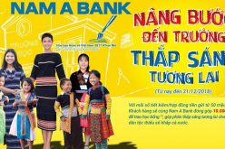 Khách hàng đã góp 10.000 đồng cho học sinh dân tộc thiểu số khi mở sổ tiết kiệm tại Nam A Bank