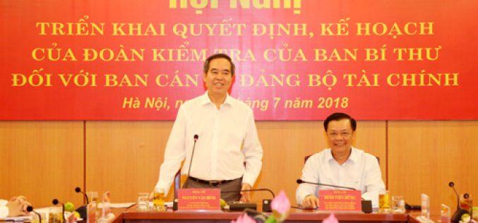 Ban Cán sự Đảng Bộ Tài chính triển khai nghiêm túc các nghị quyết của Trung ương Đảng