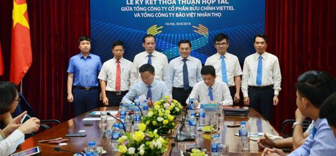 Bảo Việt Nhân thọ ký kết thỏa thuận hợp tác với Bưu chính Viettel