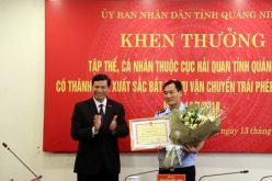 Khen thưởng Đội Kiểm soát phòng, chống ma túy Cục Hải quan Quảng Ninh