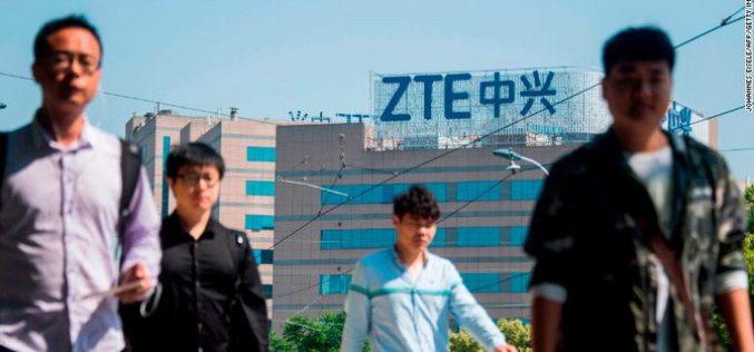 Mỹ nới lệnh cấm để ZTE tạm thời hoạt động trở lại