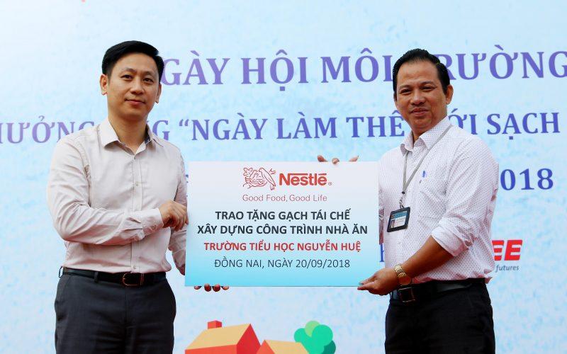 Nestlé VN xây công trình trường học cho hơn 1.000 học sinh bằng gạch từ sản xuất cà phê