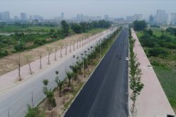 """""""Hình hài"""" con đường 5.000 tỷ nối bốn quận, huyện Hà Nội sắp khánh thành"""