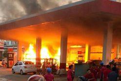 Nghi can gây cháy cây xăng ở Sài Gòn là thợ khoan bê tông