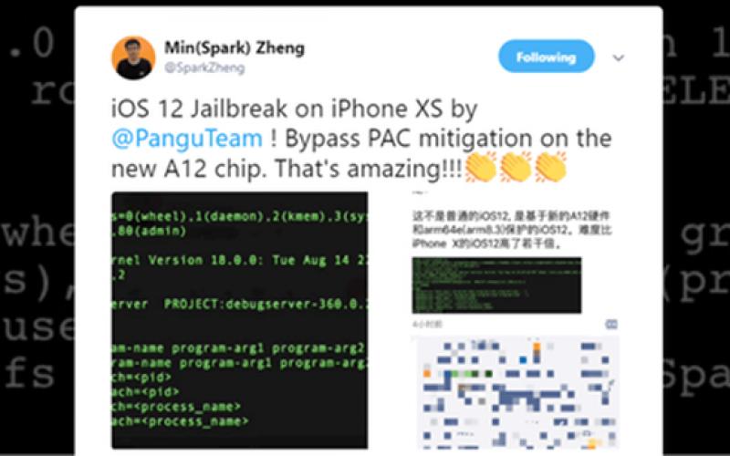 Hacker Trung Quốc bẻ khóa thành công iOS 12 trên iPhone Xs