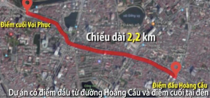 """Quý II/2019: Khởi công tuyến đường """"đắt nhất hành tinh"""" Hoàng Cầu – Voi Phục"""