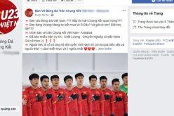 Phe vé lập page, chạy quảng cáo Facebook để bán vé chợ đen