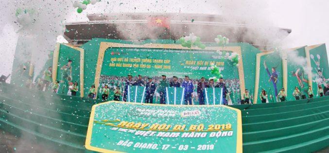 10.000 người tham gia Ngày hội đi bộ 2019 ở Bắc Giang