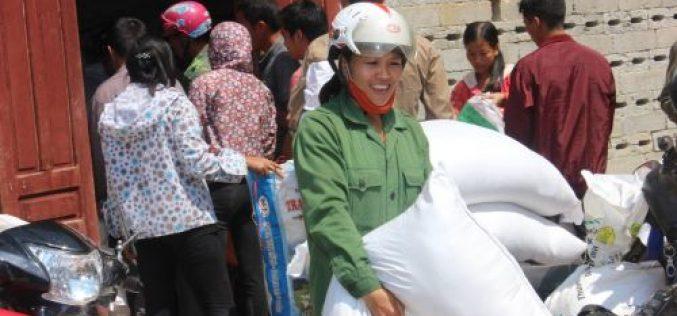 Học sinh nghèo Ninh Thuận, Phú Yên, Khánh Hòa đã được nhận gạo hỗ trợ