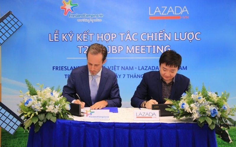 Lazada ký kết hợp tác chiến lược với FrieslandCampina Việt Nam