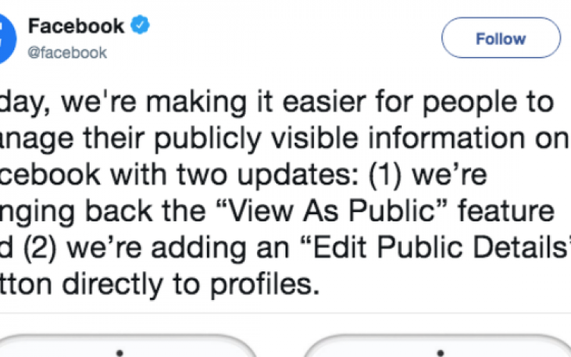 """Facebook mở lại tính năng """"View as Public"""" sau sự cố bảo mật"""