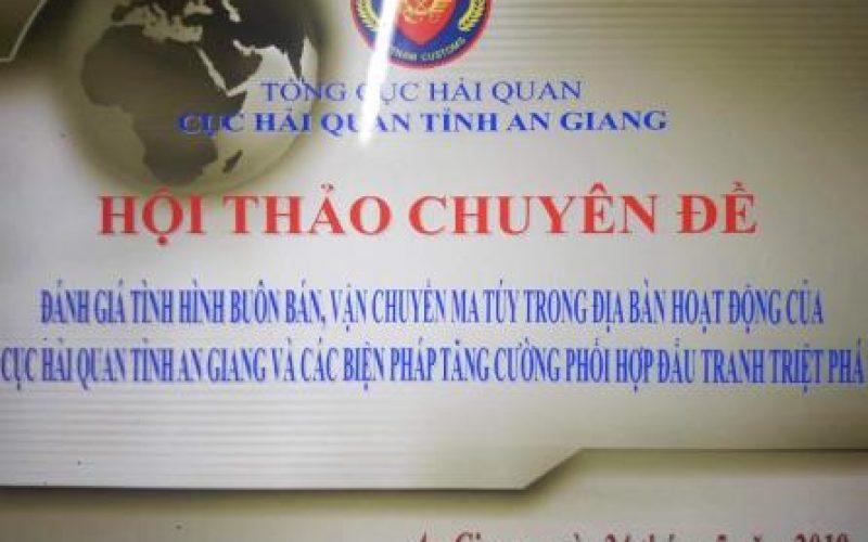 Hải quan An Giang tăng cường chống buôn lậu ma túy