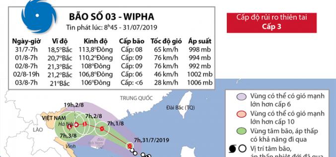 Cơn bão số 3 trên Biển Đông
