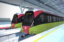 Đoàn tàu tuyến metro Nhổn – ga Hà Nội về Việt Nam đầu năm 2020