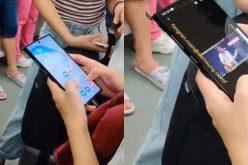 Trước ngày ra mắt, Galaxy Note10 bất ngờ lộ diện trên tàu điện ngầm?