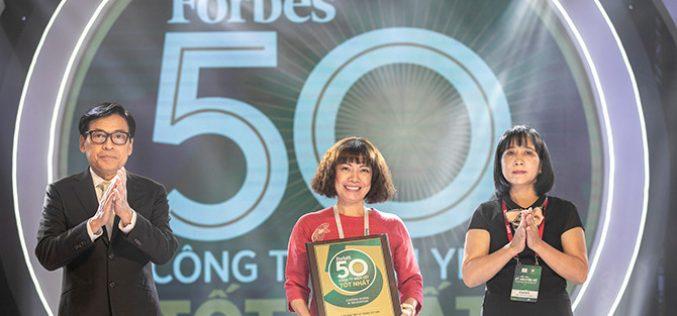 Techcombank được Forbes vinh danh Top 50 công ty niêm yết tốt nhất Việt Nam