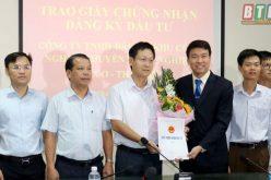 Trao giấy chứng nhận đăng ký đầu tư Khu công nghiệp Thaco – Thái Bình