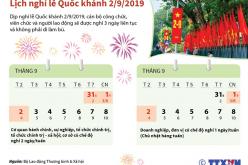Lịch nghỉ lễ Quốc khánh 2/9/2019