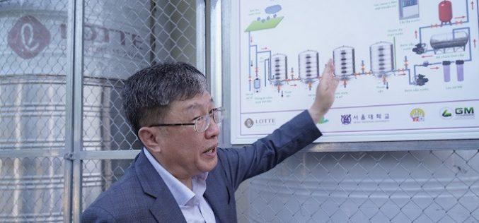 Chuyên gia Hàn Quốc xử lý nước mưa thành nước uống