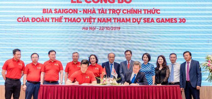 Bia Saigon tài trợ cho đoàn Thể Thao Việt Nam tham dự Sea Games 30