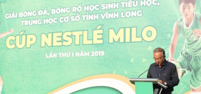 Lần đầu tiên giải bóng đá, bóng rổ – cúp Nestlé Milo đến với học sinh Vĩnh Long