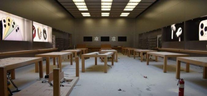 Bạo loạn ở Mỹ, dòng người vào Apple Store đập phá, vét sạch iPhone