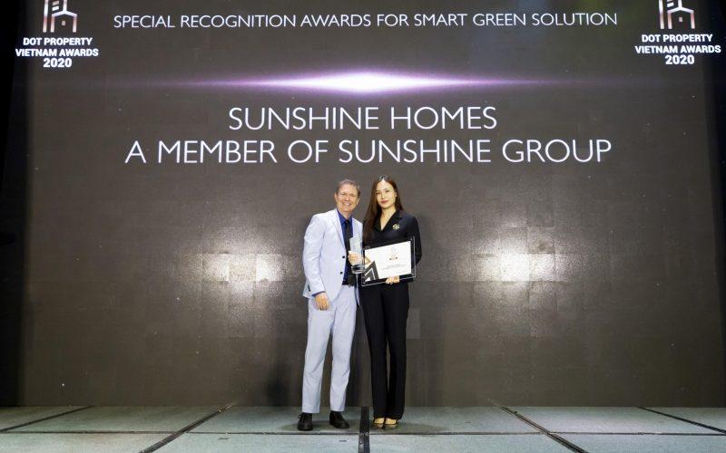 Sunshine Homes chiến thắng vang dội tại Dot Property Vietnam Awards 2020