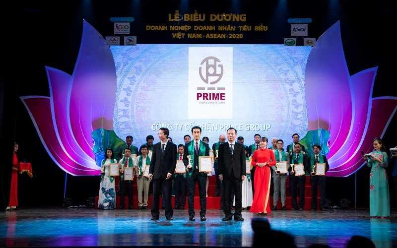 Tập đoàn Prime nhận giải thưởng doanh nghiệp tiêu biểu khu vực ASEAN năm 2020