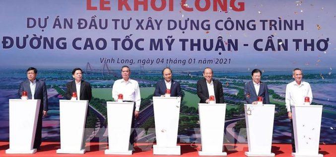 Khởi công dự án cao tốc Mỹ Thuận – Cần Thơ có tổng vốn gần 5.000 tỷ đồng