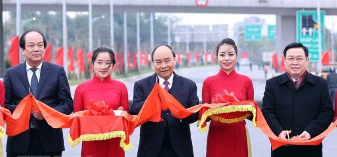 Chính thức thông xe nút giao vành đai 3 đường cao tốc Hà Nội – Hải Phòng